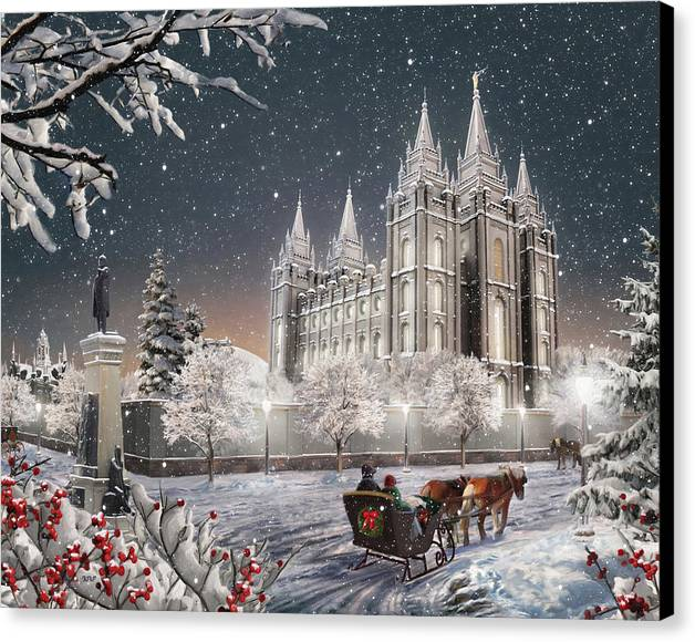 Salt Lake Temple - Old Time Christmas by Brent Borup