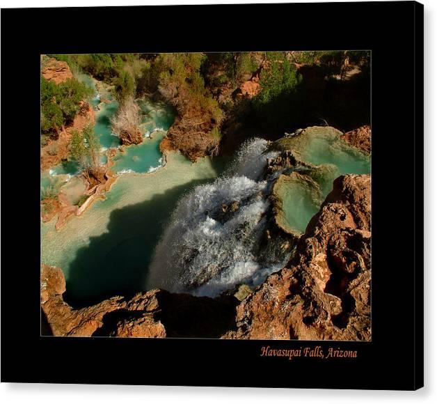 Havasupai Canvas Print featuring the photograph Above Havasupai Falls Arizona by Jessica Westermeyer