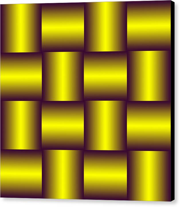 Gold Canvas Print featuring the digital art Gold Pattern A  by Raymond Youm