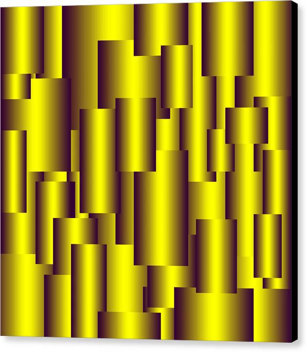 Gold Canvas Print featuring the digital art Gold Pattern B  by Raymond Youm