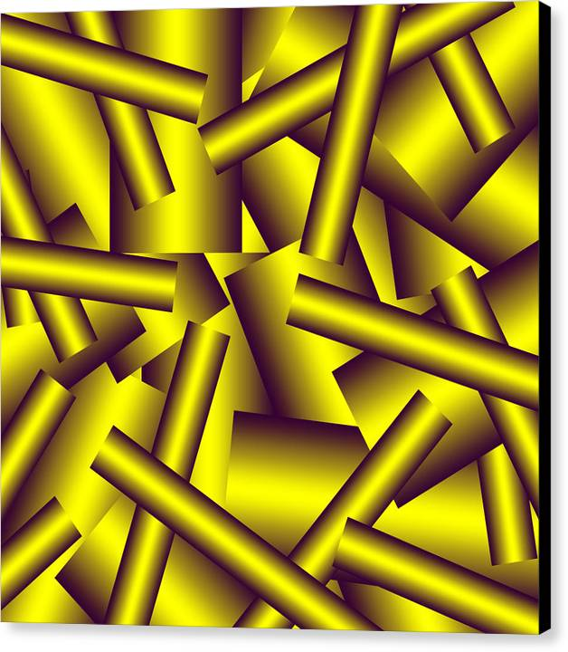 Pipe Canvas Print featuring the digital art Gold Pattern C  by Raymond Youm