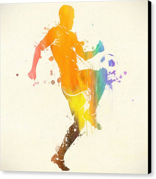 Soccer Player Paint Splatter by Dan Sproul
