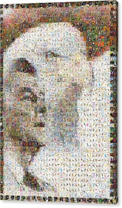 Mosaic Canvas Print featuring the digital art Reagan by Gilberto Viciedo