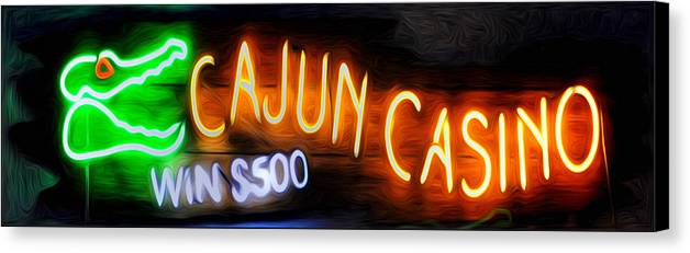 Cajun Casino - Bourbon Street Canvas Print featuring the photograph Cajun Casino - Bourbon Street by Bill Cannon