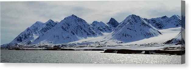 Arctic Canvas Print featuring the photograph 79 Degrees North N by Terence Davis