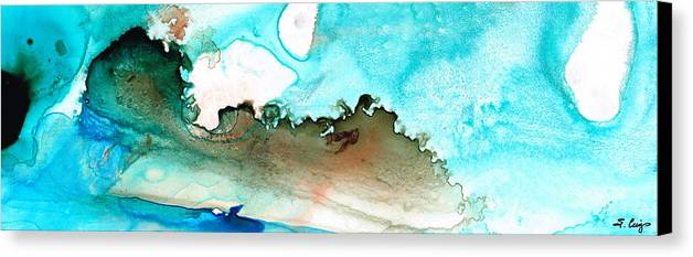 Island Canvas Print featuring the painting Island Of Hope by Sharon Cummings