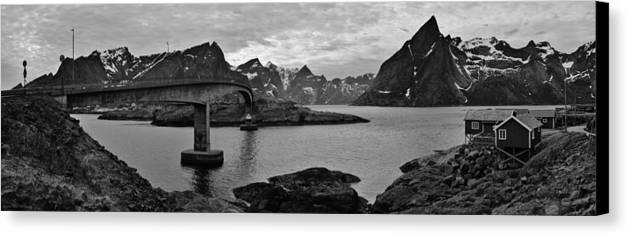 Norway Canvas Print featuring the photograph Rural Norwegian Spring Fjordland by David Broome