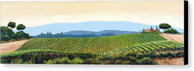 Tuscany Landscape Canvas Print featuring the painting Sienna Hills by Michael Swanson
