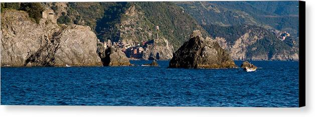 Boat Canvas Print featuring the photograph Cinque Terre Coast by Carl Jackson