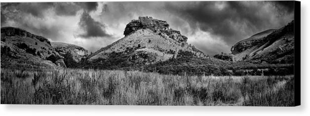 Drakensberg Canvas Print featuring the photograph Main Caves Panorama - Drakensberg by Stephen Stookey