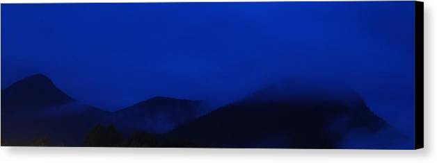 Lincoln New Hampshire After Dark Canvas Print featuring the photograph New Hampshire After Dark by Bill Driscoll
