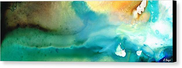 Abstract Art Canvas Print featuring the painting Pathway To Zen by Sharon Cummings