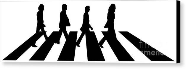 Artwork Canvas Print featuring the digital art The Beatles No.02 by Caio Caldas