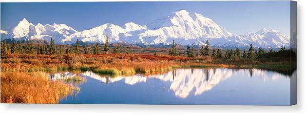 Photography Canvas Print featuring the photograph Pond, Alaska Range, Denali National by Panoramic Images