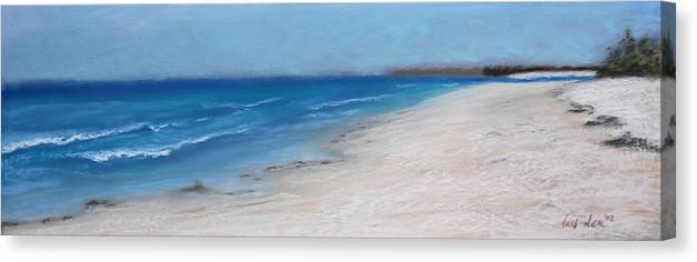 Landscape Canvas Print featuring the pastel Afternoon On Honeymoon Island by Greg Neal