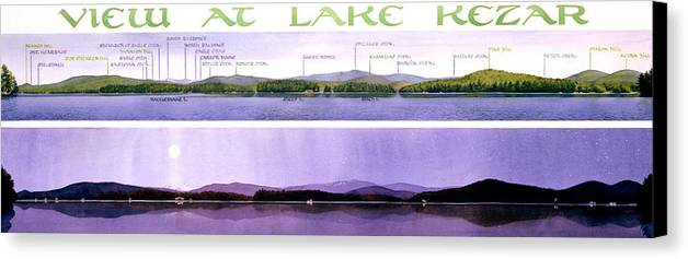 Lake Canvas Print featuring the painting Kezar Lake View by Mary Helmreich