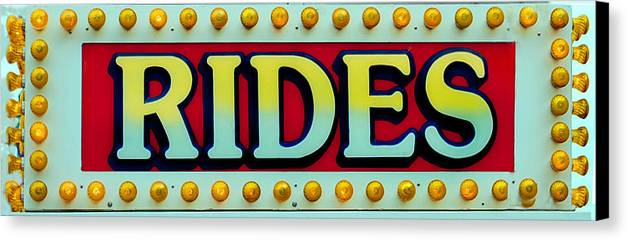 Fair Canvas Print featuring the photograph Rides by Skip Willits