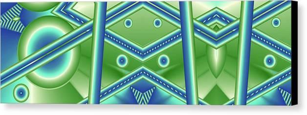 Aquamarine Canvas Print featuring the digital art Aquamarine by Ron Bissett