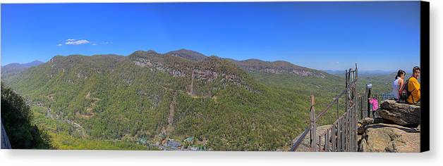 Chimney Mountain Canvas Print featuring the photograph Chimney Mountain by Bill Linhares