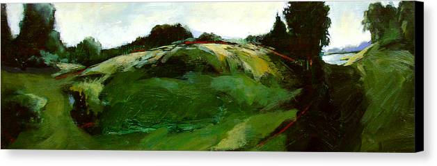 Landscape Canvas Print featuring the painting Klimt by Dale Witherow