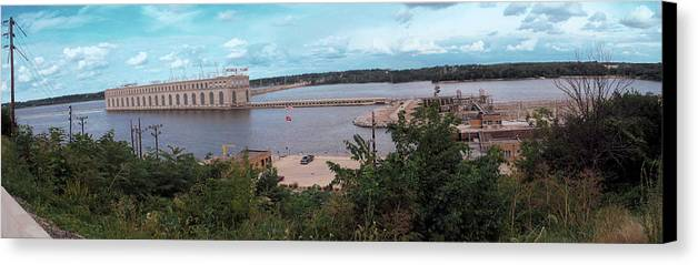 Dam Canvas Print featuring the photograph Lock And Dam 19 by Jame Hayes