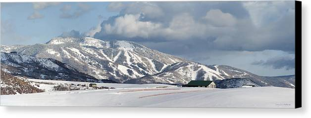 Storm Mountain Or Mount Werner Canvas Print featuring the photograph Storm Mountain by Daniel Hebard