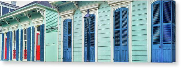 Photography Canvas Print featuring the photograph Houses Along A Street, French Quarter by Panoramic Images