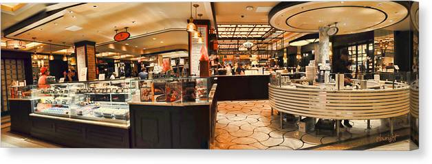 Wright Canvas Print featuring the photograph The Plaza Food Hall by Paulette B Wright