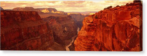 Photography Canvas Print featuring the photograph Toroweap Point, Grand Canyon, Arizona by Panoramic Images