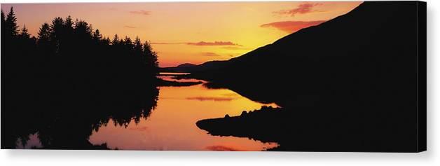 Ballynahinch Canvas Print featuring the photograph Ballynahinch Lake, Connemara, Co by The Irish Image Collection