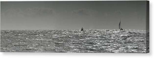Sailingg Canvas Print featuring the photograph Sailing Home by Nigel Jones