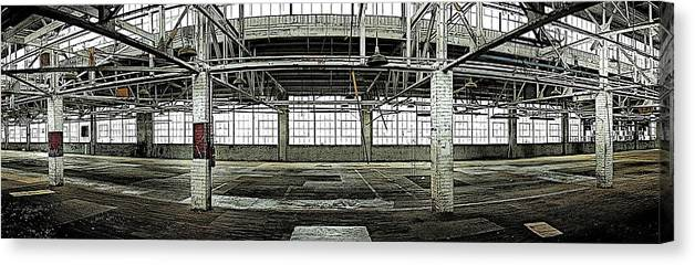 Warehouse Canvas Print featuring the photograph The Factory by Alan Skonieczny
