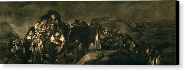 Horizontal Canvas Print featuring the photograph Goya Y Lucientes, Francisco De by Everett