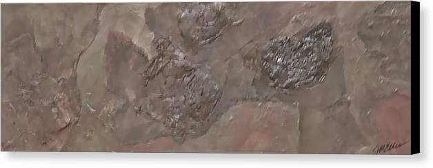 Rectangular Canvas Print featuring the painting Slate Slab by Jim Ellis