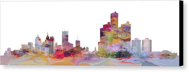Detroit Canvas Print featuring the photograph Detroit Colors by Bonfire Photography