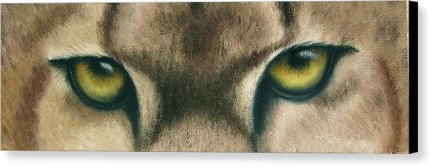Panther Eyes Canvas Print featuring the painting Whos Watching Who Panther by Darlene Green