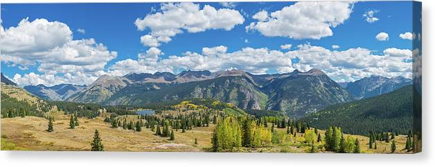 Photography Canvas Print featuring the photograph Elevated View Of Trees On Landscape by Panoramic Images