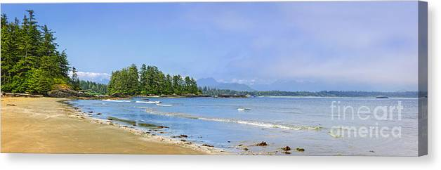 Pacific Canvas Print featuring the photograph Panorama Of Pacific Coast On Vancouver Island by Elena Elisseeva