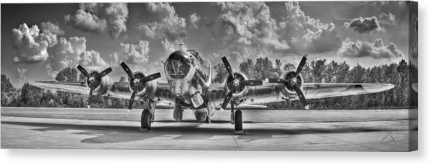 Planes Canvas Print featuring the photograph B-17 by Williams-Cairns Photography LLC