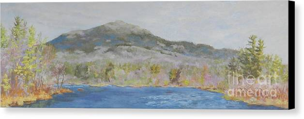 Landscape Canvas Print featuring the painting Easter Morning by Alicia Drakiotes