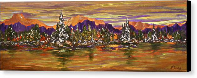 Lake Canvas Print featuring the painting Autumn Frost by Joanne Smoley
