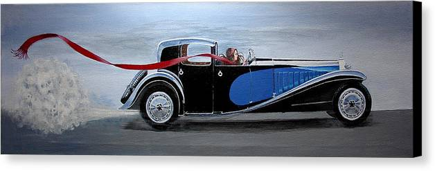 Cars Canvas Print featuring the painting Is It Dora by JoAnne Castelli-Castor