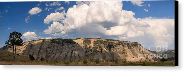 Mount Everts Canvas Print featuring the photograph Soaring Above Mount Everts by Charles Kozierok