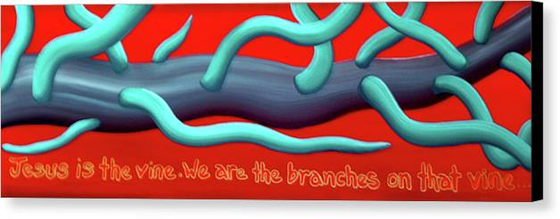Christian Canvas Print featuring the painting The Vine by Barbara Stirrup