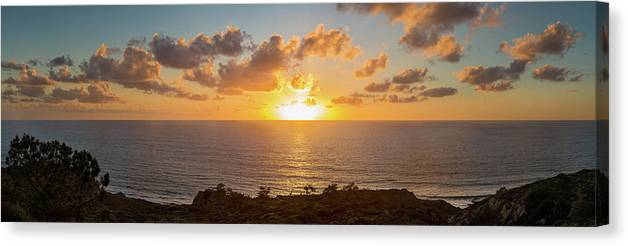 Photography Canvas Print featuring the photograph Sunset Over The Pacific Ocean, Torrey by Panoramic Images
