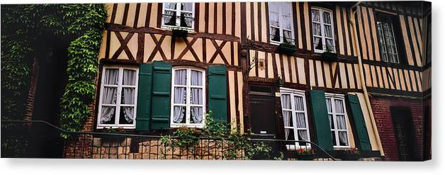 Photography Canvas Print featuring the photograph Low Angle View Of Houses by Panoramic Images