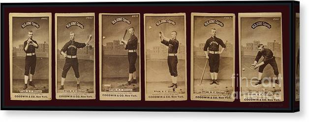 Baseball Cards Old Judge Cigarettes Player R F Ryan Chicago 1887 Canvas Print