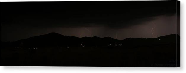 Arizona Canvas Print featuring the photograph Distant Strikes by Aaron Burrows