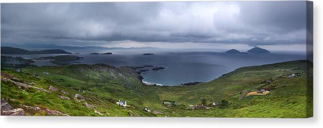 Panorama Canvas Print featuring the photograph Scenery Of Dingle by Celine Pollard
