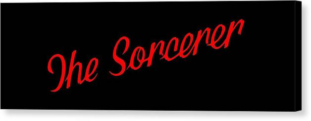 Sorcerer Canvas Print featuring the photograph The Scorcerer Nameplate by Elaine MacKenzie